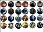 24 x Harry Potter Movies 1.6'' rice paper cake toppers
